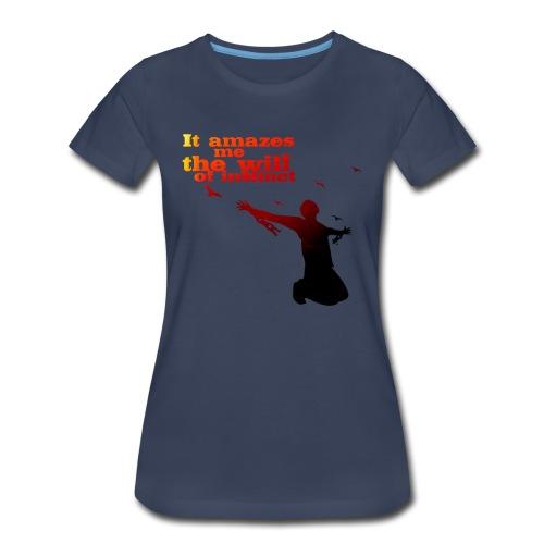 The will of Instinct - female - Women's Premium T-Shirt