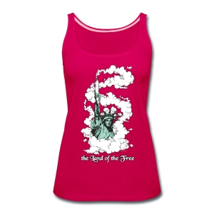 the Land of the Free ... Cannabis - female top - Women's Premium Tank Top