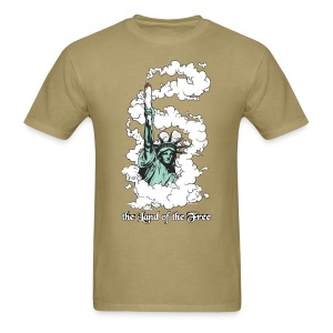 Amercia - the Land of the Free - Cannabis T-Shirts - Men's T-Shirt