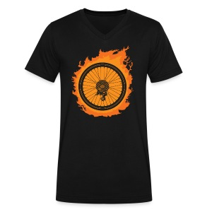 Bike Fire - Men's V-Neck T-Shirt by Canvas