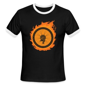 Bike Fire - Men's Ringer T-Shirt