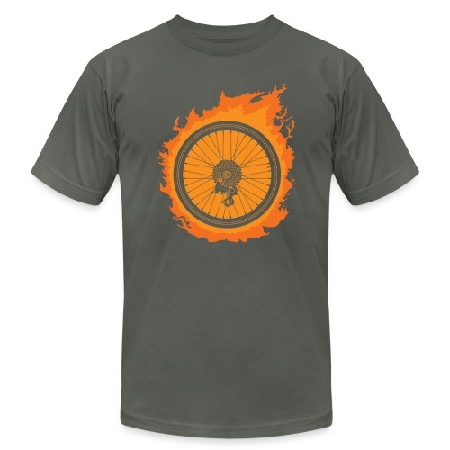 Bike Fire - Men's Fine Jersey T-Shirt