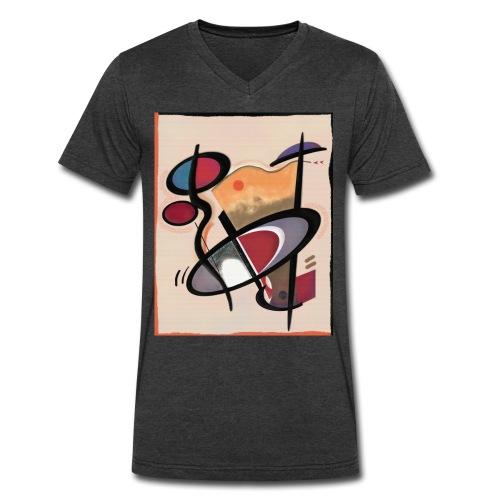 Men's V-Neck T-Shirt by Canvas - Digital Art. www.angelestevez-art.com