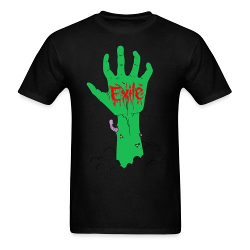 Arise small sizes green severed zombie hand - Men's T-Shirt