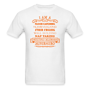 I Am A Superhero - Men's T-Shirt (Orange Design) - Men's T-Shirt