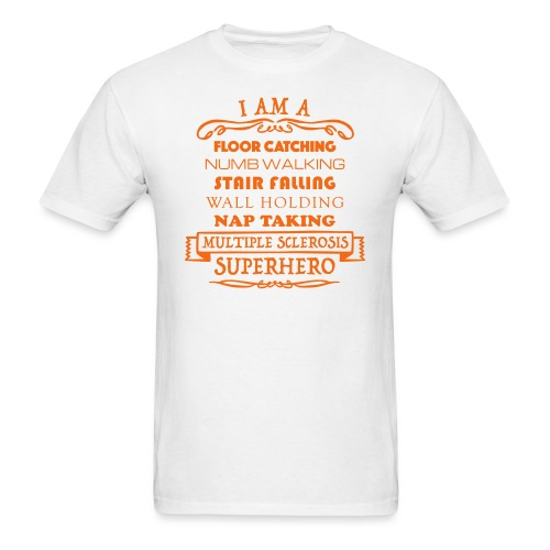 I Am A Superhero - Men's T-Shirt (Orange Design) - Men's T-Shirt