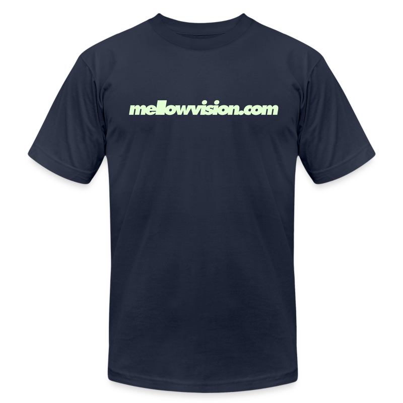 Mellowvision.com Glow-In-The-Dark T Shirt - Men's T-Shirt by American Apparel