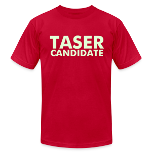 TASER CANDIDATE men's AA T - Men's T-Shirt by American Apparel