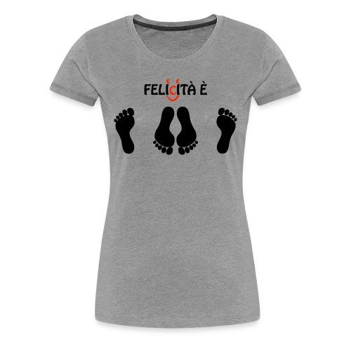 Naughty footprints open wide_blackdesign_ashtee_w-felicita e - Women's Premium T-Shirt