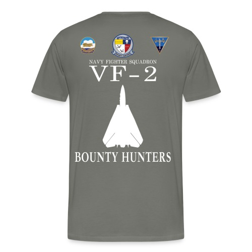 VF-2 BOUNTY HUNTERS w/ USS KITTY HAWK CV-63 SHIRT - Men's Premium T-Shirt