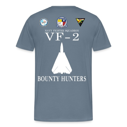 VF-2 BOUNTY HUNTERS w/ USS ENTERPRISE CVAN-65 SHIRT - Men's Premium T-Shirt