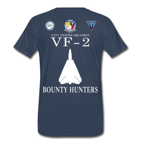 VF-2 BOUNTY HUNTERS w/ USS ENTERPRISE CVN-65 SHIRT - Men's Premium T-Shirt