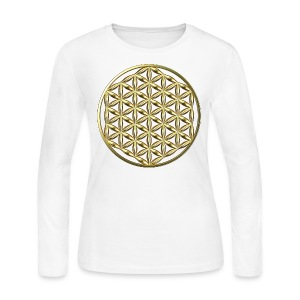 Flower of Life Ag - Women's Long Sleeve Jersey T-Shirt