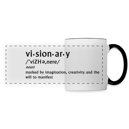 visionary definition mug - Panoramic Mug