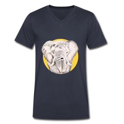 Elephant - Men's V-Neck T-Shirt by Canvas
