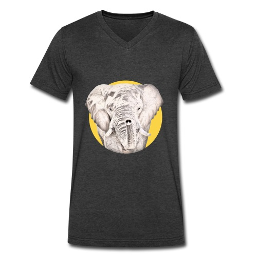 Elephant - Men's V-Neck T-Shirt by Canvas
