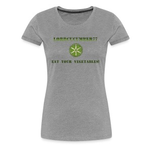 Ladies' Premium Shirt Grey with QR code - Women's Premium T-Shirt