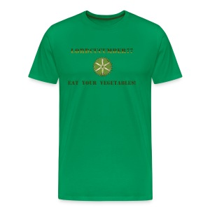 Men's Premium Shirt Green with QR code - Men's Premium T-Shirt