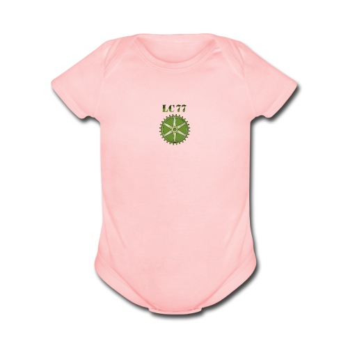 LC77 Baby Wear Pink - Organic Short Sleeve Baby Bodysuit