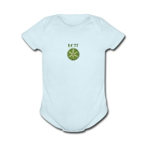 LC77 Baby Wear Blue - Short Sleeve Baby Bodysuit
