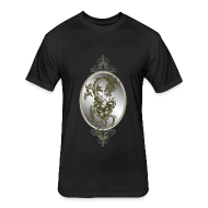 T-Shirts ~ Fitted Cotton/Poly T-Shirt by Next Level ~ Steel Dragon Shirt