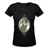 T-Shirts ~ Women's V-Neck T-Shirt ~ Steel Dragon Shirt