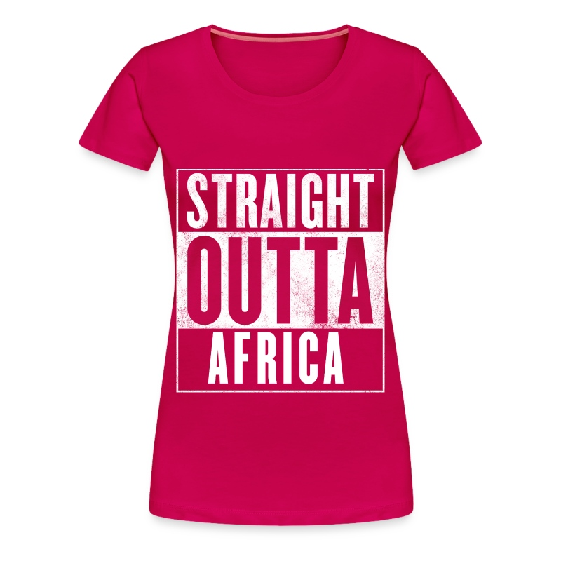 Straight outta africa t shirt spreadshirt for Straight from the go shirt
