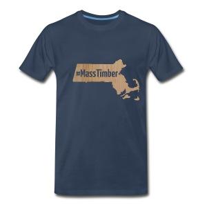 #MassTimber Transparent - Men's Premium T-Shirt