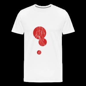 The Traveler - White/Red - Men's Premium T-Shirt