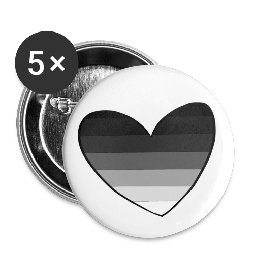 Straight Pride Heart - Buttons small 1'' (5-pack)