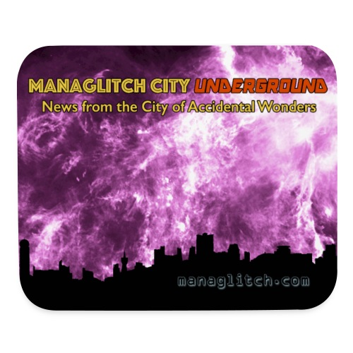 Managlitch City Underground mousepad - Mouse pad Horizontal