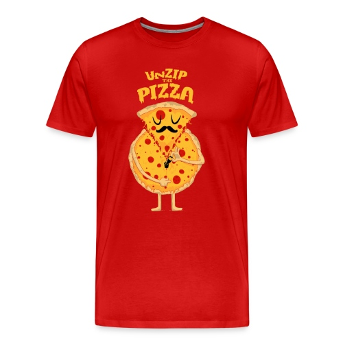 Unzip the Pizza - Men's Premium T-Shirt