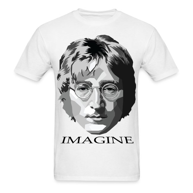 c5cae0c72 MUSIC THREADZ | John Lennon T-Shirt (Imagine) - Mens T-Shirt
