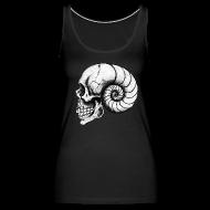 Tanks ~ Women's Premium Tank Top ~ Nautilus Skull