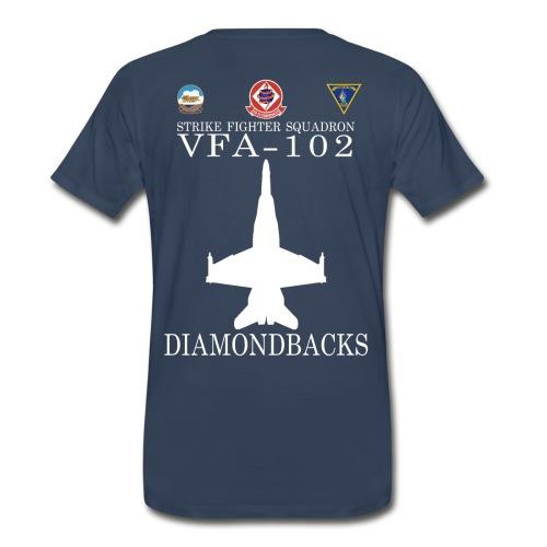 VFA-102 DIAMONDBACKS w/ USS KITTY HAWK - Men's Premium T-Shirt