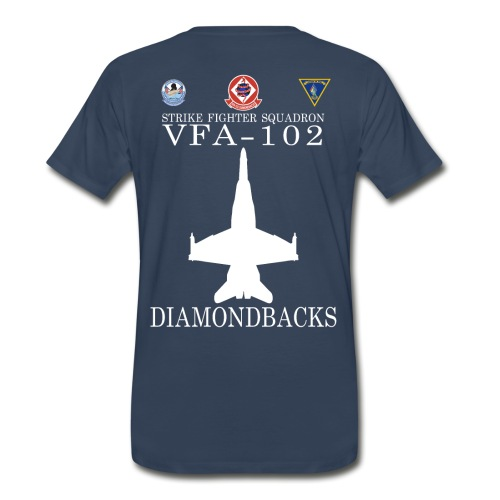VFA-102 DIAMONDBACKS w/ USS GEORGE WASHINGTON  - Men's Premium T-Shirt