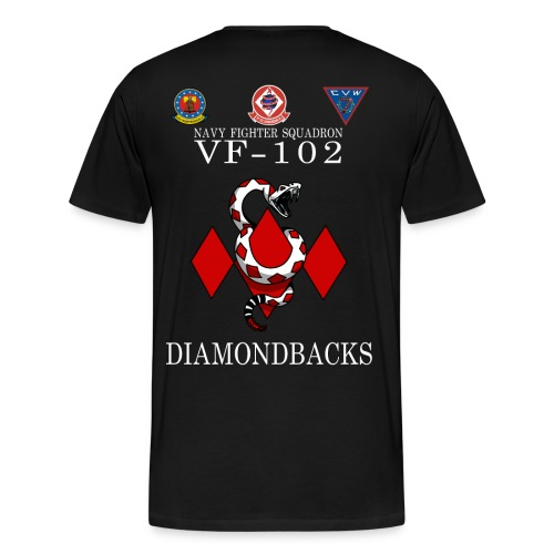 VF-102 DIAMONDBACKS w/ USS INDEPENDENCE & CVW 7 - Men's Premium T-Shirt
