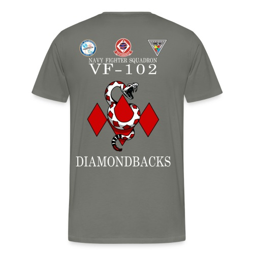 VF-102 DIAMONDBACKS w/ USS ENTERPRISE CVAN 65  and CVW 6  - Men's Premium T-Shirt