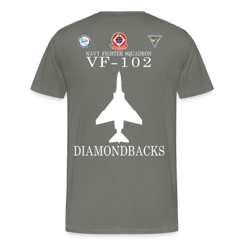 VF-102 DIAMONDBACKS w/ USS ENTERPRISE CVAN 65 & CVW 6  - Men's Premium T-Shirt