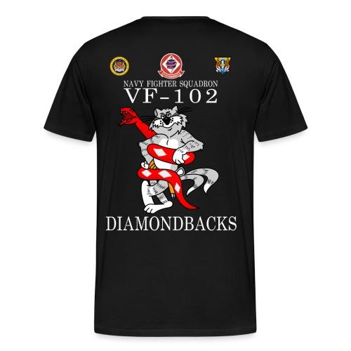 VF-102 DIAMONDBACKS w/ USS AMERICA - Men's Premium T-Shirt