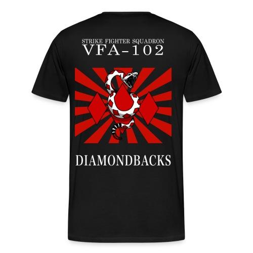 VFA-102 DIAMONDBACK SUN - WHITE - Men's Premium T-Shirt