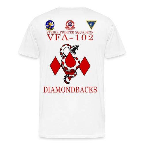 VFA-102 DIAMONDBACK SUPER HORNET - WHITE - Men's Premium T-Shirt