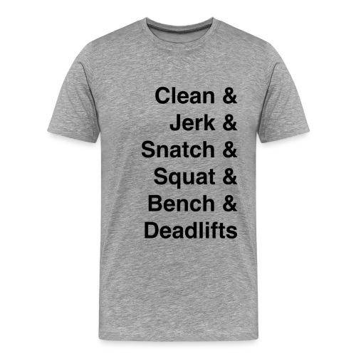 Barbell Lifts Men's Shirt - Men's Premium T-Shirt