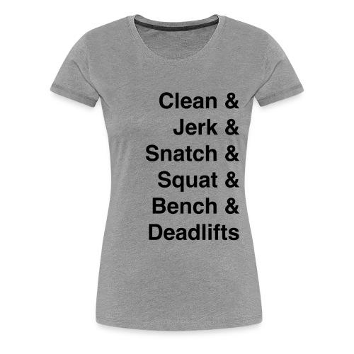 Barbell Lifts Women's Shirt - Women's Premium T-Shirt