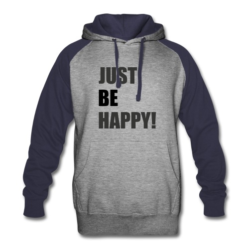 VK Just be Happy! (Hoodie) - Colorblock Hoodie