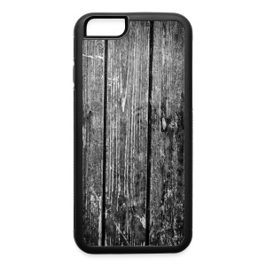 wooden texture IPhone 6 case black - iPhone 6/6s Rubber Case