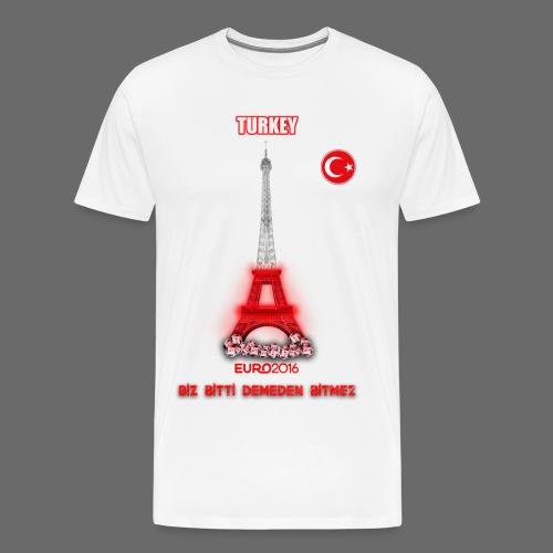 euro 2016 turkey eiffel tower - Men's Premium T-Shirt