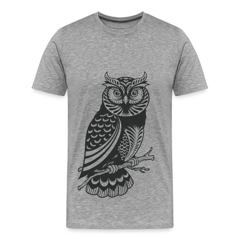Owl design material t shirt spreadshirt T shirt with owl design