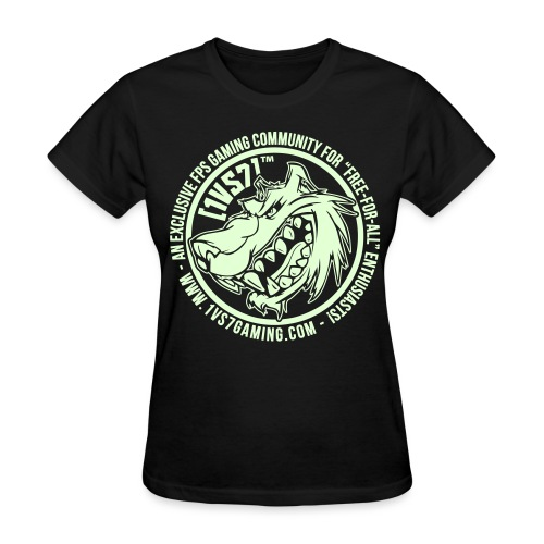 [1vs7]™ Women's Tee | Glow-in-the-Dark Smooth Logo | Pick Fabric Color - Women's T-Shirt