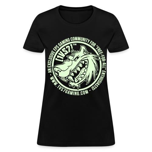 [1vs7]™ Women's Tee | Glow-in-the-Dark Smooth Logo | Pick Fabric Color - Women's T-Shirt